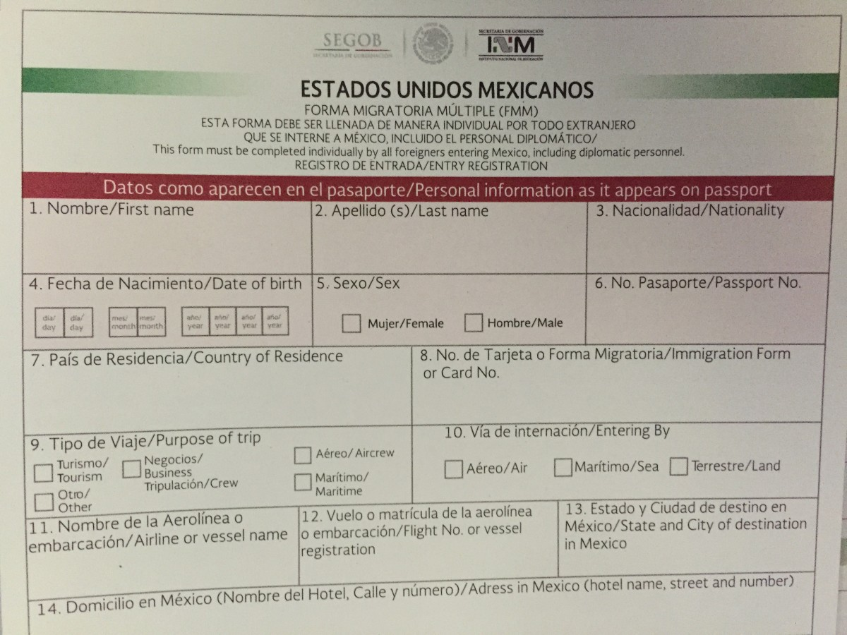 Your Mexico Visitors Permit Fmm Mexperience